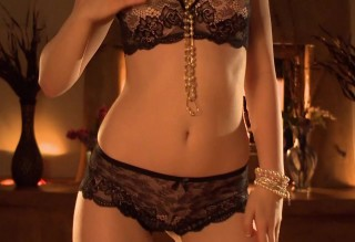 Black Lace by the Fireplace